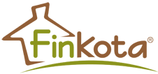 Finkota® Ihr Markenanbieter für Campingfässer, Safarizelte, Schäferwagen, Zirkuswagen, Grillhütten, Privatbäder und Saunen. Logo